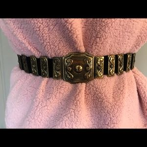 Vintage Ann Taylor Black Suede Waist Belt